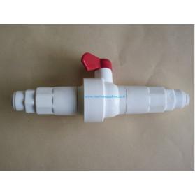Ruwal Riduttore di flusso con valvola di lavaggio incorporata per membrane da 50 GPD