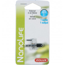 Zolux Tap Air Metal 2 outputs for silicone tube 4/6 mm
