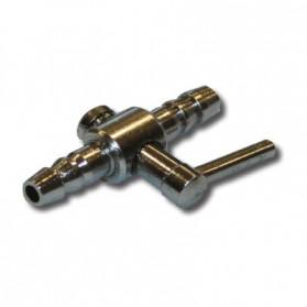 Zolux Rubinetto Aria in Metallo a 1 Uscita per tubo in silicone 4/6 mm