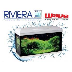 Wave Acquario Riviera 80 LED Completo Bianco - 96 Litri 80x32xh45cm
