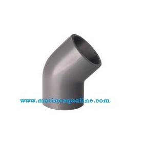 Ruwal - PVC Gomito 45° ad incollaggio - Ø 20