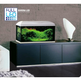 Wave - Riviera 80 Aquarium Led Complete with Accessories and Support Mobile White 95lt
