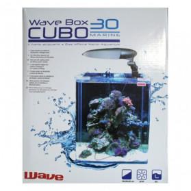 Wave Box Cubo 30 Marine Cosmos - Completo di Lampada E27 20W con Filtro Filpo Corner